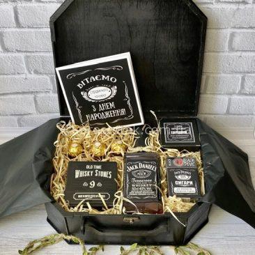 Чемодан Jack Daniel's з камінням для охолодження віскі