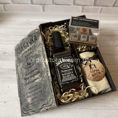 """Wooden box """"Заначка"""" с теннесси виски Jack Daniel's 0,5l"""