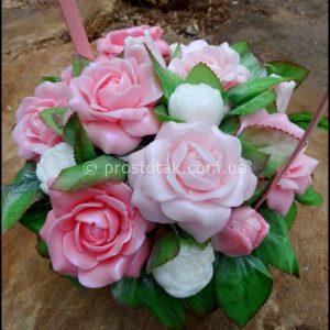 Подарок Девушке корзина роз (Мыло)