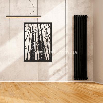 Декор з дерева на стіну. Берези 75х44см