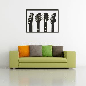 Подарок гитаристу. Декор для дома или офиса  4 грифа.