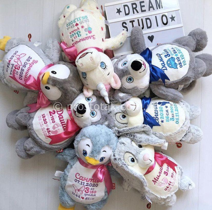 Іграшки для новонародженої дитини з метрикою