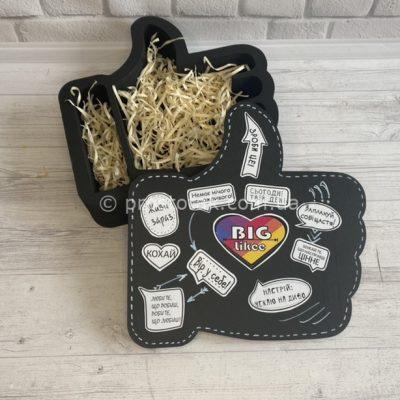 Оригинальная упаковка коробка черного цвета ЛАЙК