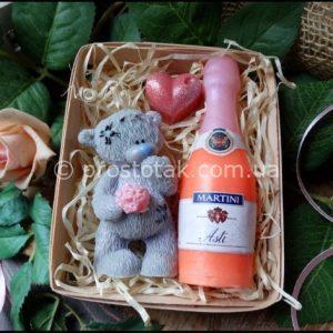 Подарункове мило ведмедик Тедді і мартіні