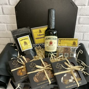 Подарунковий набір з віскі Jameson 0,5 і шоколад Spell