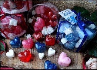 Набoр валентинок из мыла ручной работы