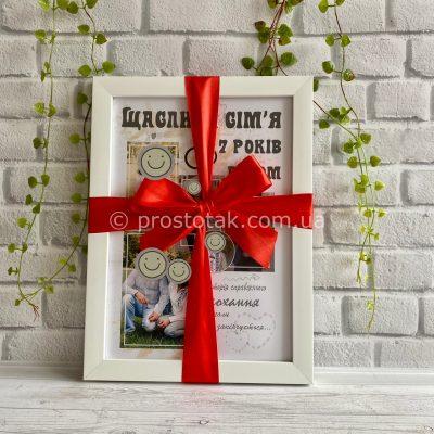 Постер з фотографіями на річницю весілля