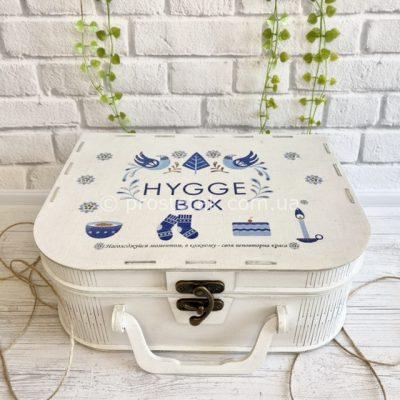 Коробка для подарунка чемодан білого кольору