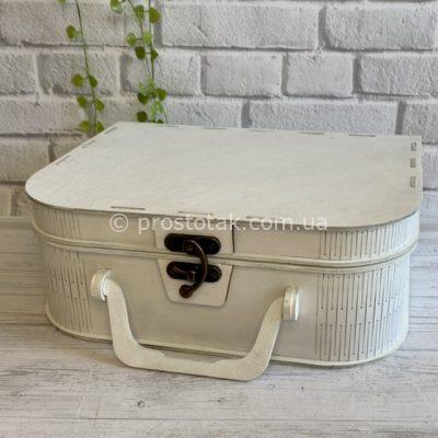 Чемодан белого цвета коробка для подарка