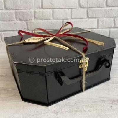 Чемодан коробка для подарка черного