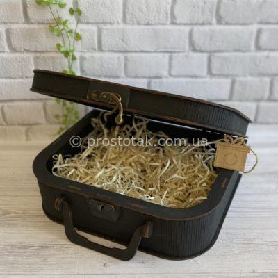 Чемодан коробка для подарка черного цвета