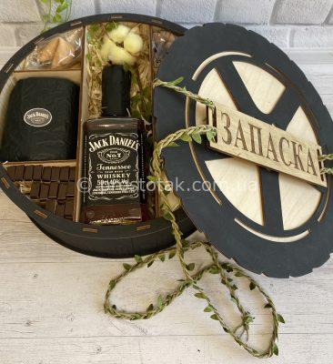 """Подарунковий набір з віскі Jack Daniel's """"Запаска"""""""
