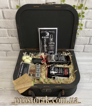 Подарок для мужчины с Теннесси виски Jack Daniel's (0,35л)-Vip.2.black