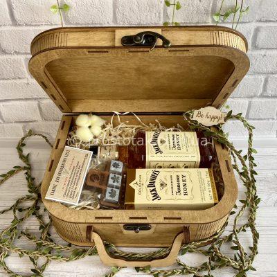 """Подарунок для чоловіка дерев'яний бокс """"Honey aroma""""-Vip.3"""