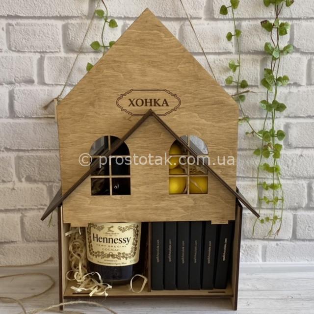 Подарунки чоловікам із алкоголем в дерев'яних коробках