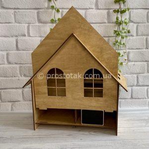 Подарункова коробка дерев'яна у вигляді будиночка