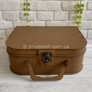 Коробка для подарка чемодан модель 2 коричневого цвета