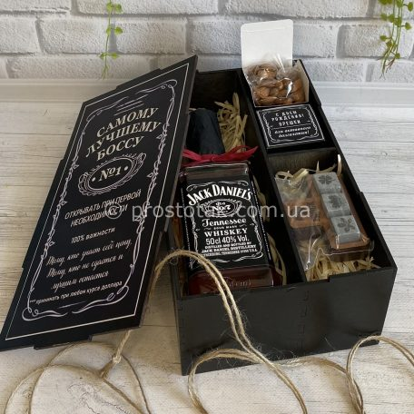 Подарунковий набір для директора, боса, шефа з віскі Jack Daniel's