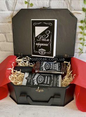 Подарунок набір для чоловіка керівника з алкоголем віскі Jack Daniel's