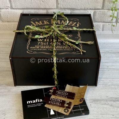 Коробка із гравіюванням Jack Daniel'sдля подарунків 25Х25х10см